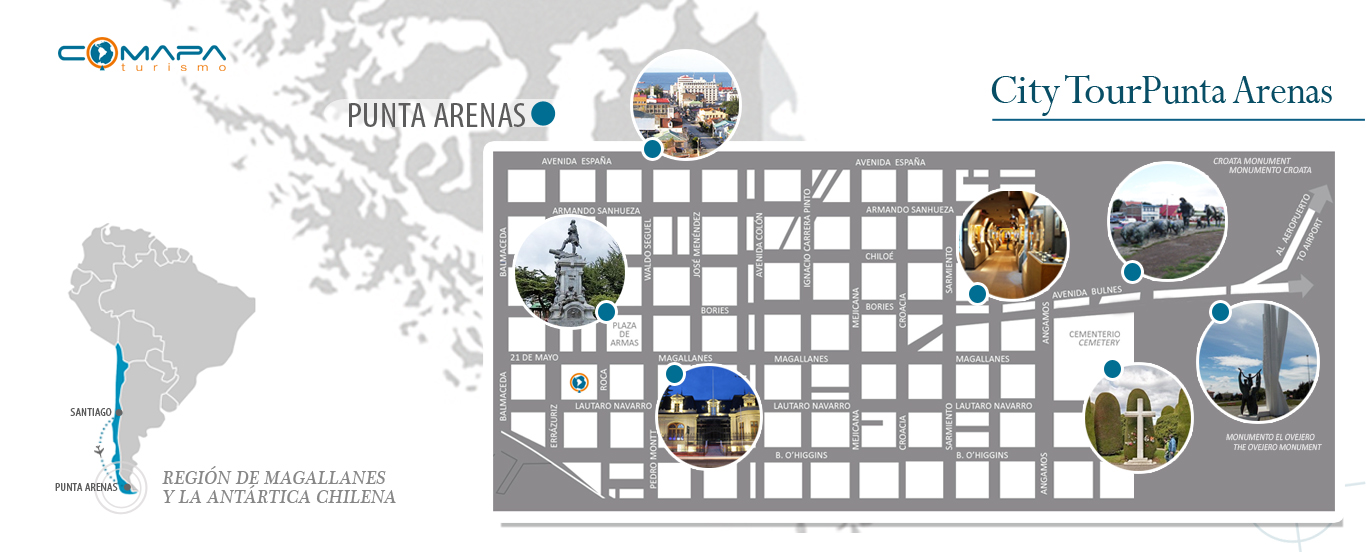 city tour punta arenas mapa